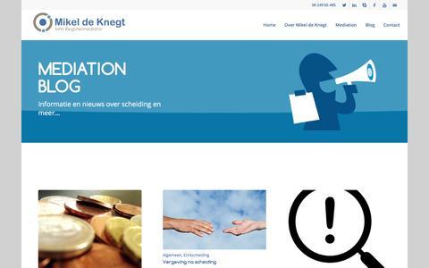 Screenshot of Blog mikeldeknegtmediation.nl - Mediation Blog | Mikel de Knegt Mediation - captured Nov. 28, 2016