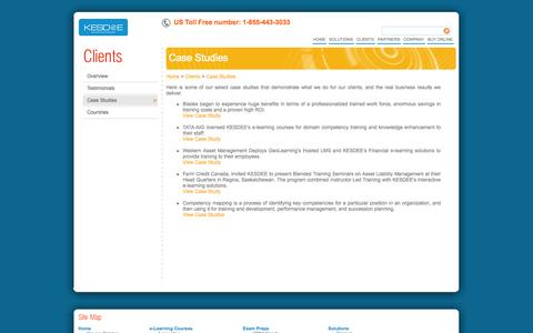 Screenshot of Case Studies Page kesdee.com - KESDEE - Info Center - Case Studies - captured Sept. 22, 2014