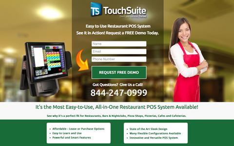 Screenshot of Landing Page touchsuite.com captured Oct. 27, 2014