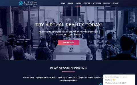 Screenshot of Pricing Page survios.com - Pricing -     Survios Arcade - captured Dec. 23, 2018