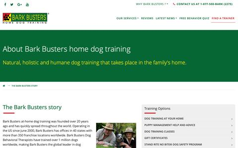 Screenshot of About Page barkbusters.com - About Bark Busters at-home dog training - captured Oct. 5, 2018