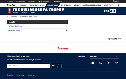 The website for the English football association, The FA Cup and The England football team - The Buildbase FA Trophy | The FA
