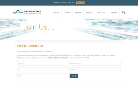 Screenshot of Signup Page 4bridgeworks.com - Sign Up - Bridgeworks - captured Nov. 23, 2016