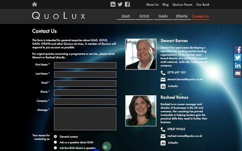 Screenshot of Contact Page quolux.co.uk - Contact Us | QuoLux - captured Dec. 15, 2015