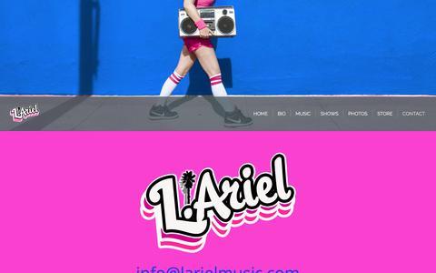 Screenshot of Contact Page larielmusic.com - L.Ariel - Contact - captured Oct. 1, 2016