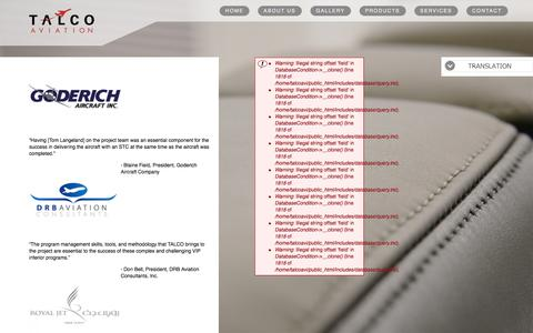 Screenshot of Testimonials Page talcoaviation.com - Talco Aviation - captured Oct. 7, 2014