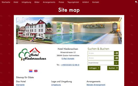 Screenshot of Site Map Page hotel-niedersachsen-harz.de - Site map - captured Feb. 1, 2016