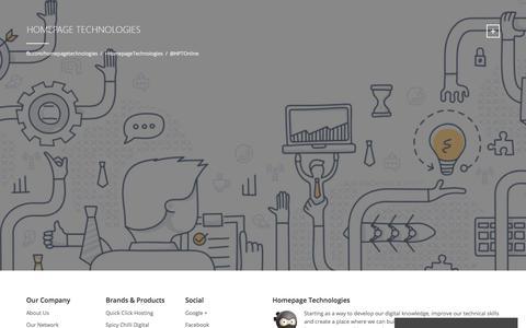 Screenshot of Home Page homepage-technologies.com - Homepage Technologies Homepage Technologies - captured July 9, 2017
