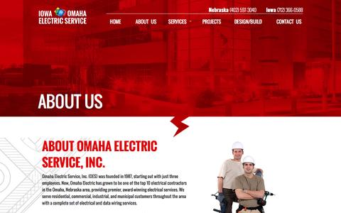 Screenshot of About Page omahaelectric.com - About Electrical Contractors Omaha NE   Certified Electricians - captured Feb. 25, 2016