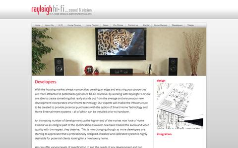 Screenshot of Developers Page rayleighhifi.com - Developers   Rayleigh Hi-Fi - captured Oct. 9, 2014