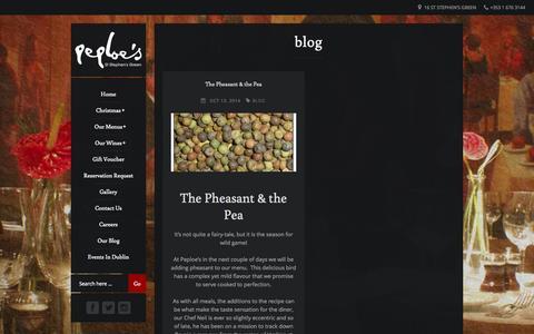Screenshot of Blog peploes.com - blog Archives - Peploes | 16 St. Stephens Green, Dublin 2. | Tel: +353 1 6763144 | Email: reception@peploes.com | Peploes | 16 St. Stephens Green, Dublin 2. | Tel:  +353 1 6763144 | Email: reception@peploes.com | - captured Nov. 1, 2014