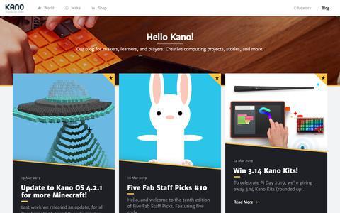 Screenshot of Blog kano.me - Hello Kano! - captured March 20, 2019