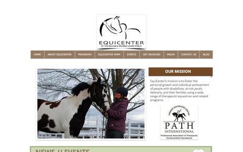 Screenshot of Home Page equicenterny.org - EquiCenter, Inc. - captured Nov. 9, 2016