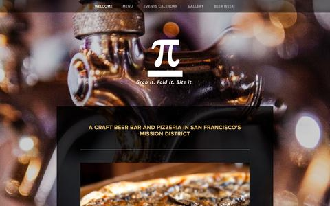 Screenshot of Home Page pibarsf.com - Pi Bar San Francisco - captured Oct. 2, 2014