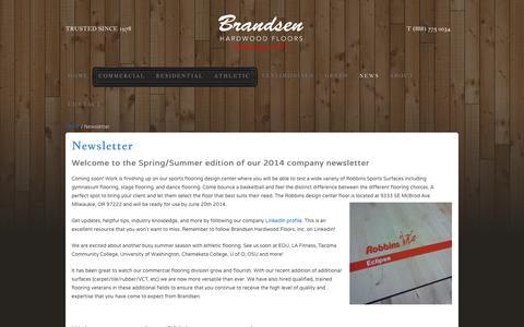 Screenshot of Press Page brandsenhardwood.com - Portland Flooring News   Brandsen Hardwood News - captured Oct. 5, 2014