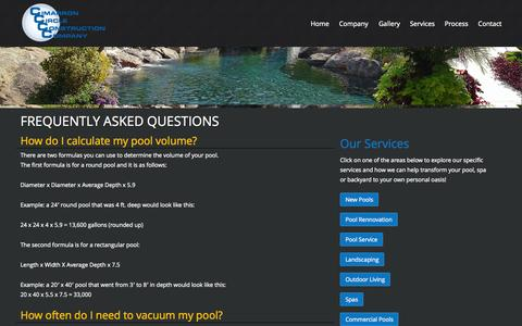 Screenshot of FAQ Page cimarroncircle.com - Frequently Asked Questions | Cimarron CircleCimarron Circle - captured Oct. 2, 2014