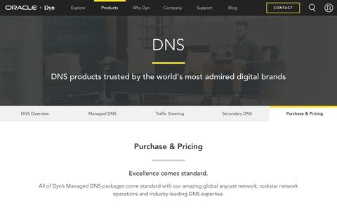 Screenshot of Pricing Page dyn.com - Purchase and Pricing | Dyn - captured April 4, 2017