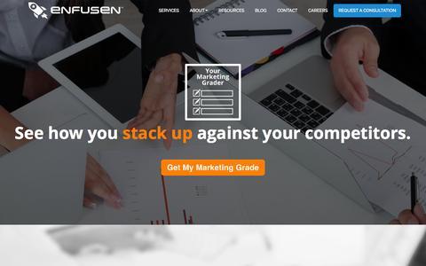 Screenshot of Home Page enfusen.com - Enfusen - captured Sept. 19, 2015