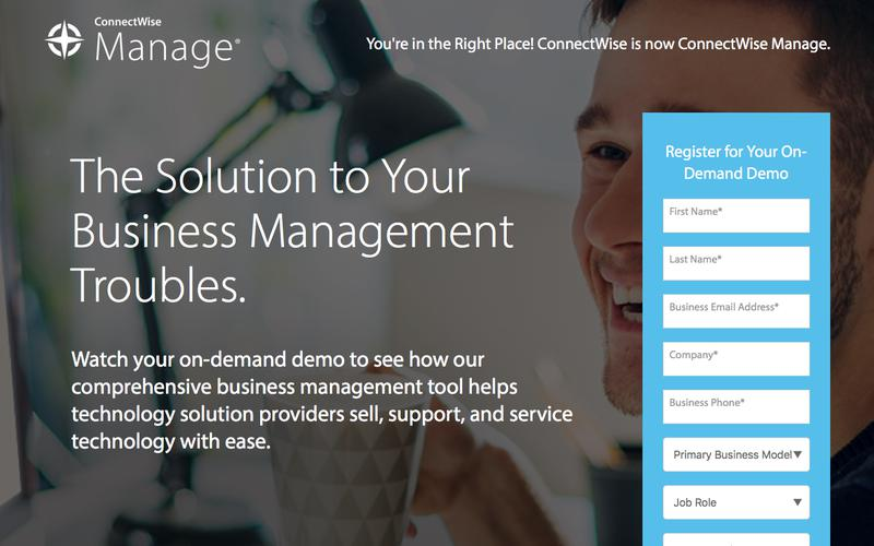 Take the ConnectWise Manage On-Demand Demo