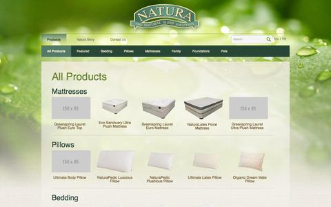 Screenshot of Products Page naturaworld.com - Products | Natura - captured Oct. 6, 2014