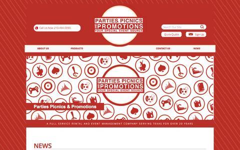 Screenshot of Press Page partiespicnics.com - Creative Event Planning Ideas- Parties, Picnics & PromotionsParties Picnics & Promotions - captured Oct. 22, 2014