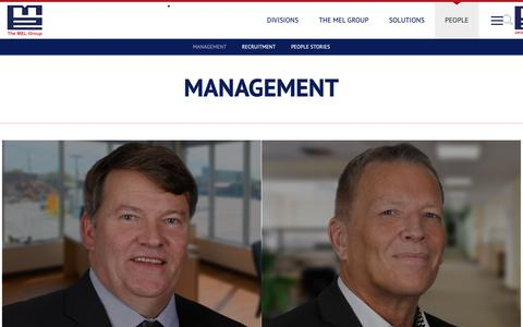 Screenshot of Team Page themelgroup.co.uk - Management - captured Sept. 27, 2018