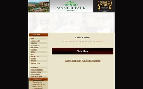 Screenshot of Pricing Page manorparkhuahin.com - Welcome to Manor Park Hua Hin,Leading development project - captured Oct. 4, 2014