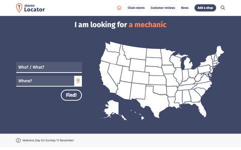 Screenshot of Home Page stores-locator.com - Stores-Locator.com : 107913 stores, 1084 customer reviews - captured Oct. 19, 2018