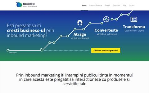 Screenshot of Home Page beans-united.ro - Agentie de Inbound Marketing in Romania| Beans United - captured Sept. 30, 2014