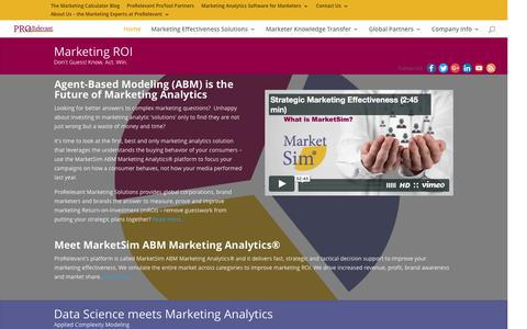 Marketing Analytics for Business. Get an ROI from your Marketing.
