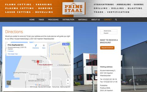 Screenshot of Maps & Directions Page prinsstaalhandel.nl - Prinsstaalhandel | Prins Staalhandel | Directions - captured Nov. 12, 2016