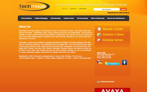 Screenshot of About Page techmode.com - Techmode | About Us - captured Oct. 26, 2014