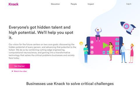 Screenshot of Home Page knack.it - Knack app - captured Oct. 15, 2018