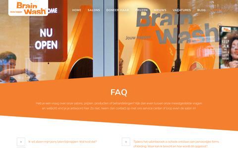 Screenshot of FAQ Page brainwash-kappers.nl - FAQ - Brainwash Kappers - captured June 2, 2017