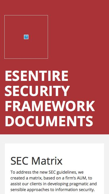 eSentire Security Framework Documents