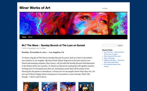 Screenshot of Blog minerworksofart.com - Miner Works of Art - captured Sept. 30, 2014