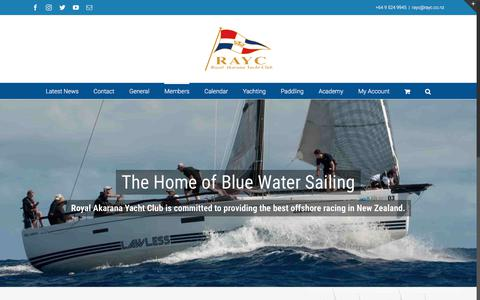 Screenshot of Signup Page rayc.co.nz - Join Today! - Royal Akarana Yacht Club - captured Oct. 23, 2017