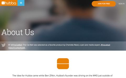 Screenshot of About Page hubba.com - About Hubba | Our Company Story - captured Nov. 23, 2015