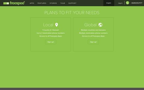 Screenshot of Pricing Page freespee.com - Pricing - Freespee - captured Oct. 2, 2015