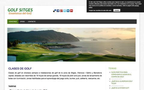 Screenshot of Home Page Privacy Page golfsitges.com - Clases de golf de iniciación y handicap en Vilanova i Geltrú y Barcelona - captured April 15, 2018