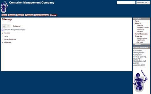 Screenshot of Site Map Page google.com - Sitemap - Centurion Management Company - captured Nov. 2, 2016