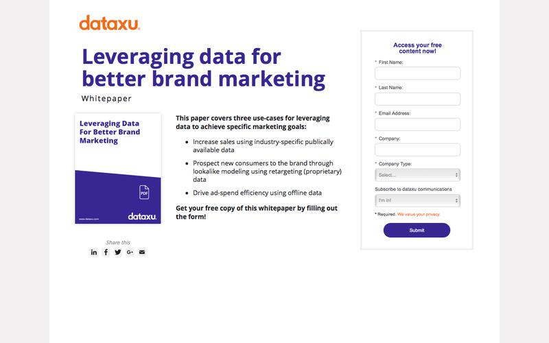 Whitepaper: Leveraging Data for Better Brand Marketing
