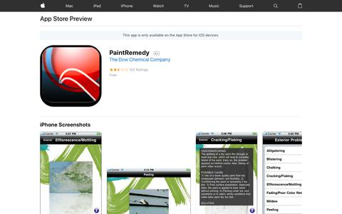 PaintRemedy on the AppStore