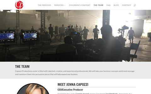 Screenshot of Team Page capozziproductions.com - Our Team | Capozzi Productions - captured July 11, 2016