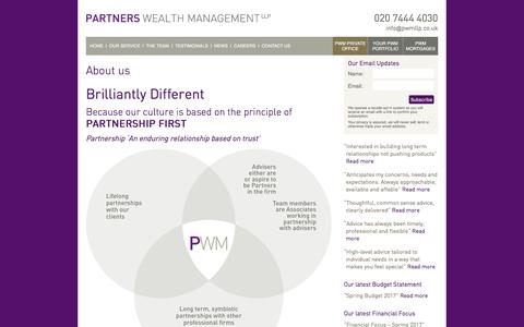 Screenshot of About Page partnerswealthmanagement.co.uk - About us | Partners Wealth Management - captured May 14, 2017