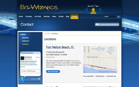 Screenshot of Locations Page bitwizards.com - Bit-Wizards - Locations - Florida, Texas, Tennessee - captured Sept. 30, 2014