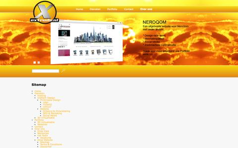 Screenshot of Site Map Page extrude.nl - Sitemap | Extrude - captured Sept. 30, 2014