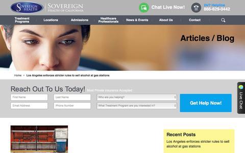 Screenshot of Blog sovcal.com - Blog | Sovereign Health CaliforniaSovereign Health Group - captured Oct. 23, 2017