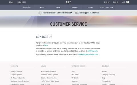 Electronic Cigarette Customer Service | NJOY