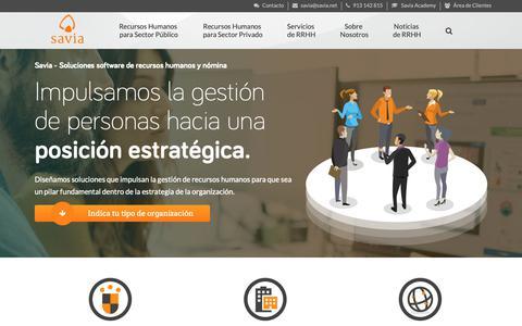 Screenshot of Home Page savia.net - Savia - Software de Recursos Humanos y Nómina - captured Dec. 15, 2018